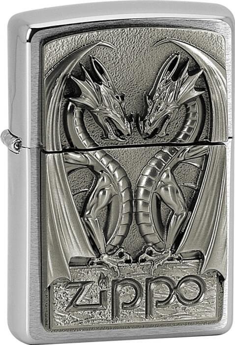 Zippo zapalovač 21661 Twins Dragon Heart Emblem