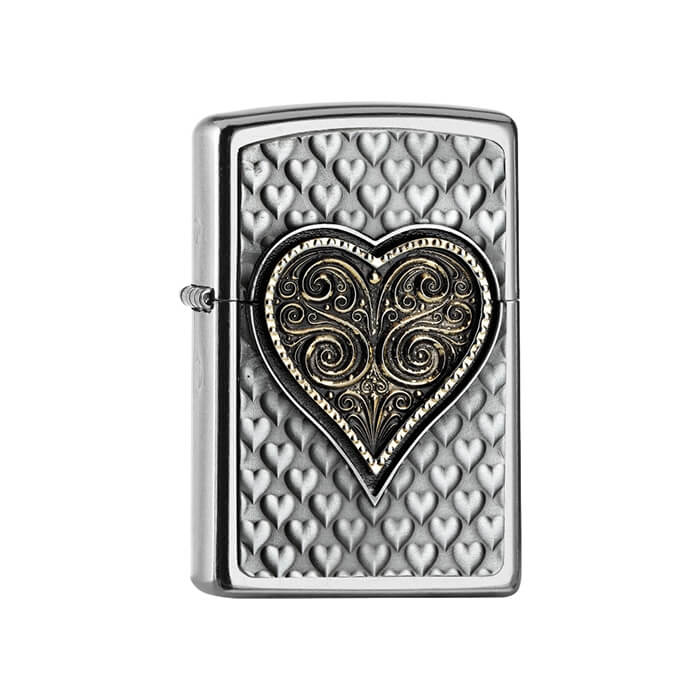 Zippo zapalovač 25542 Heart Emblem 3D