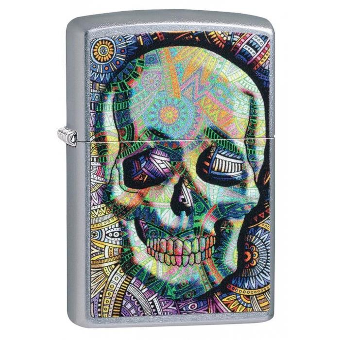 Zippo zapalovač 25565 Geometric Skull