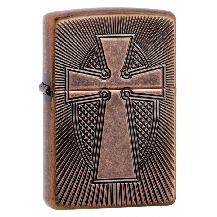 Zippo zapalovač 27163 Deep Carve Cross Design
