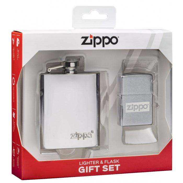Zippo 30062 dárkova sada zapalovače a placatky