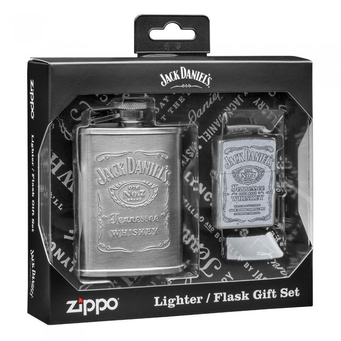 Zippo 30061 Jack Daniels dárkova sada zapalovače a placatky